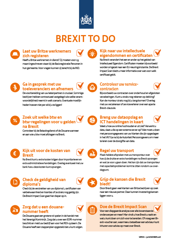 Infographic over de Brexit